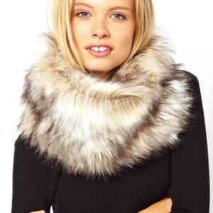 Asos infinity faux fur scarf